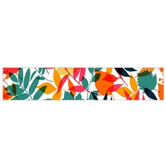 Seamless Autumn Leaves Pattern  Flano Scarf (small)