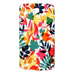 Seamless Autumn Leaves Pattern  Samsung Galaxy Mega I9200 Hardshell Back Case