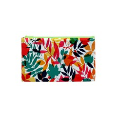 Seamless Autumn Leaves Pattern  Cosmetic Bag (XS)