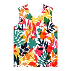 Seamless Autumn Leaves Pattern  Men s Basketball Tank Top