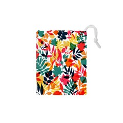Seamless Autumn Leaves Pattern  Drawstring Pouches (XS)