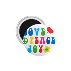 Love Peace And Joy  1.75  Magnets