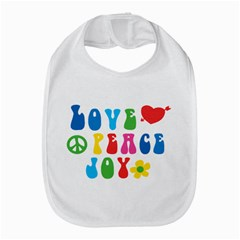 Love Peace And Joy  Bib