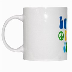 Love Peace And Joy  White Mugs
