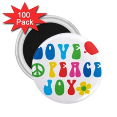 Love Peace And Joy  2.25  Magnets (100 pack)