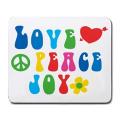 Love Peace And Joy  Large Mousepads