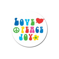 Love Peace And Joy  Magnet 3  (round)