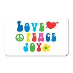 Love Peace And Joy  Magnet (Rectangular)