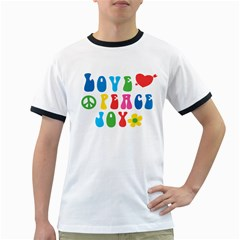 Love Peace And Joy  Ringer T Shirts