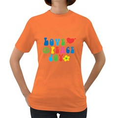 Love Peace And Joy  Women s Dark T Shirt