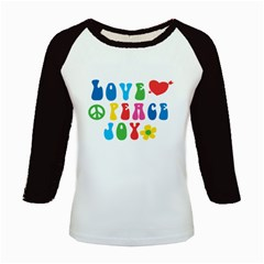 Love Peace And Joy  Kids Baseball Jerseys