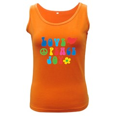 Love Peace And Joy  Women s Dark Tank Top