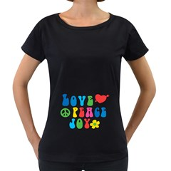 Love Peace And Joy  Women s Loose Fit T Shirt (black)