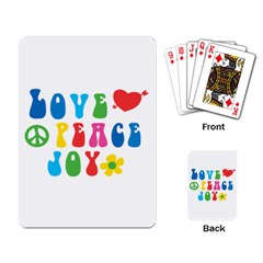 Love Peace And Joy Signs Playing Cards Single Design