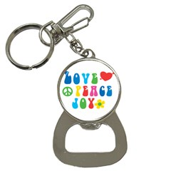 Love Peace And Joy  Bottle Opener Key Chains