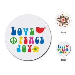 Love Peace And Joy Playing Cards Single Design (Round)