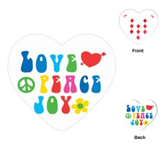 Love Peace And Joy Signs Playing Cards Single Design (Heart)