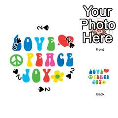 Love Peace And Joy  Playing Cards 54 (round)