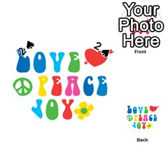 Love Peace And Joy  Playing Cards 54 (heart)