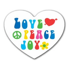 Love Peace And Joy Signs Mouse Pad (heart)