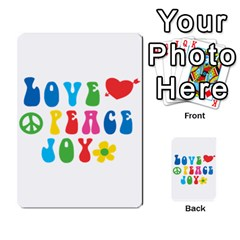 Love Peace And Joy Signs Double-sided Card Games