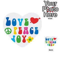 Love Peace And Joy  Multi-purpose Cards (Heart)