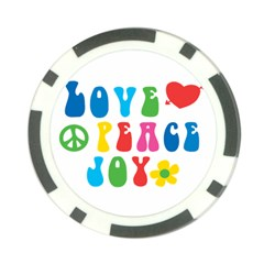 Love Peace And Joy  Poker Chip Card Guards (10 Pack)
