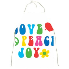 Love Peace And Joy  Full Print Aprons