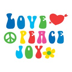 Love Peace And Joy  Magic Photo Cubes