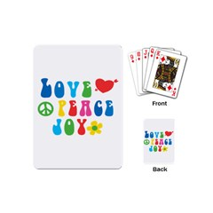 Love Peace And Joy Signs Playing Cards (mini)