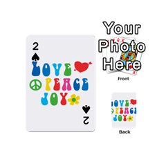 Love Peace And Joy Signs Playing Cards 54 Designs (mini)