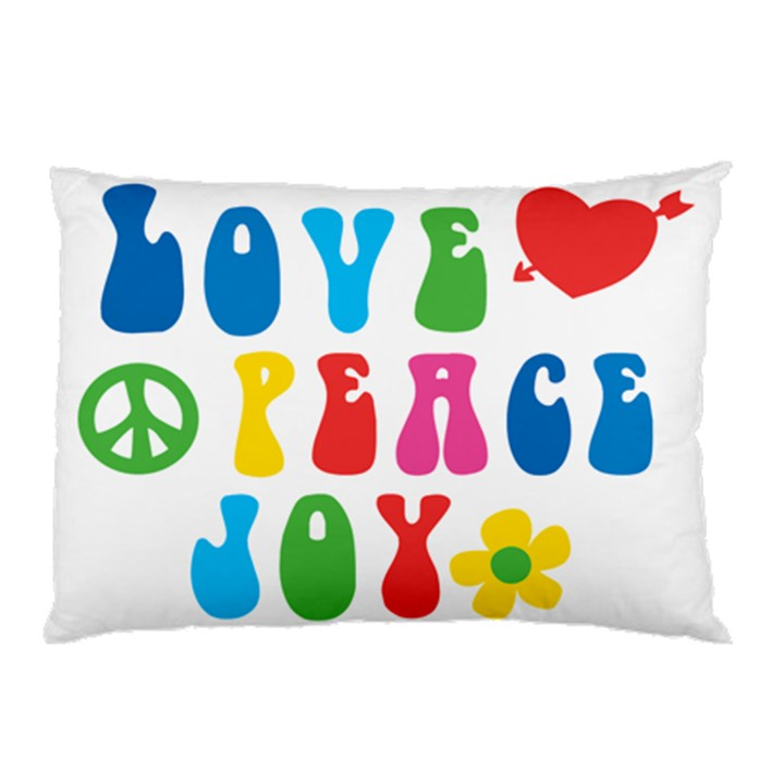 Love Peace And Joy  Pillow Case (Two Sides)