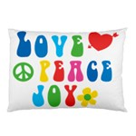 Love Peace And Joy  Pillow Case (Two Sides) Back