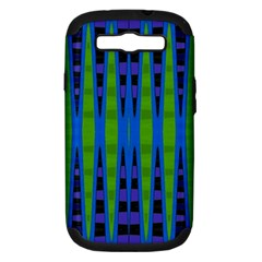 Blue Green Geometric Samsung Galaxy S Iii Hardshell Case (pc+silicone)