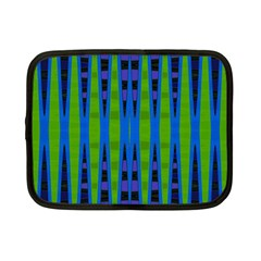 Blue Green Geometric Netbook Case (small)