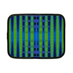 Blue Green Geometric Netbook Case (Small)  Front
