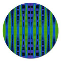 Blue Green Geometric Magnet 5  (round)