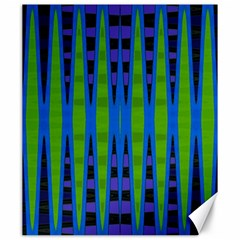 Blue Green Geometric Canvas 20  X 24