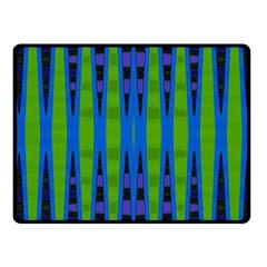 Blue Green Geometric Fleece Blanket (small)
