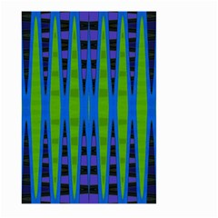 Blue Green Geometric Large Garden Flag (two Sides)