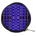 Blue Black Geometric Pattern Mini Makeup Bags Front