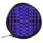 Blue Black Geometric Pattern Mini Makeup Bags Back