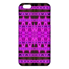 Bright Pink Black Geometric Pattern Iphone 6 Plus/6s Plus Tpu Case