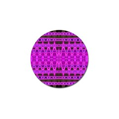 Bright Pink Black Geometric Pattern Golf Ball Marker (4 Pack)