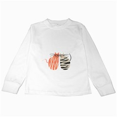 Two Lovely Cats   Kids Long Sleeve T Shirts
