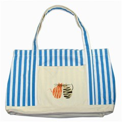 Two Lovely Cats   Striped Blue Tote Bag
