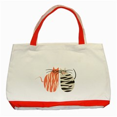 Two Lovely Cats   Classic Tote Bag (Red)