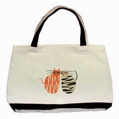 Two Lovely Cats   Basic Tote Bag (Two Sides)