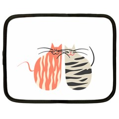Two Lovely Cats   Netbook Case (large)
