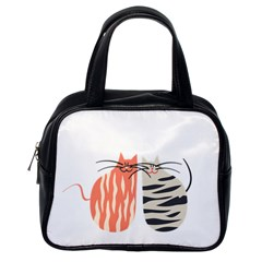 Two Lovely Cats   Classic Handbags (One Side)